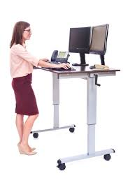 desk workstation desk that raises and lowers standing desk station computer desk height standing at