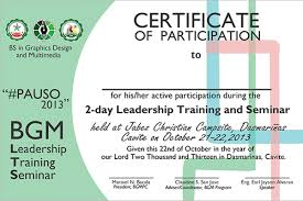 Participation Certificate Templates Free Premium