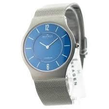 polo ralph lauren men skagen 233lttn titanium watch mens ultra slim dress