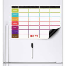 Weekly Meal Planer Diet Magnetic Fridge Board Weekly Meal Planner