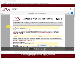 Irpe Academic Program Action Form Guide