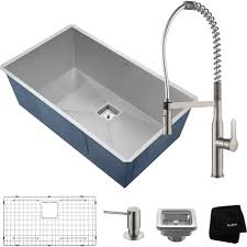 Kraus Khu32 1650 41ss Pax Stainless Steel Faucet Sink Kitchen