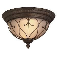 Oil Rubbed Bronze Flush Mount Light Portfolio Charton Place 15 28 In W Oil Rubbed Bronze Ceiling