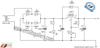 transformer dc power supply wiring diagram transformer variable power supply circuit