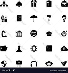 Resume Icons Job Resume Icons On White Background Royalty Free Vector 45