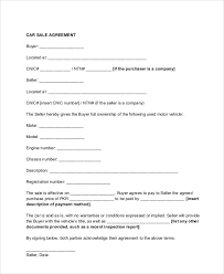 A motor vehicle bill of sale form is a document that details the terms of the sale of a vehicle between a buyer and seller. Free 11 Sample Vehicle Sales Contracts In Google Docs Ms Word Pages Pdf