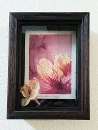 i love how this customer creatively framed one of my watercolour paintings she used a