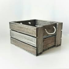 picture of wooden service tray with rope handles for home and garden square box antique