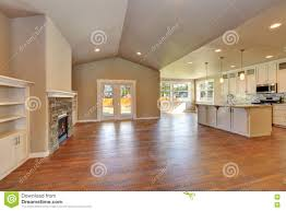 Open Plan Living Room Open Plan Living Room Interior With Lots Of Space Stock Photo