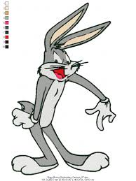Bugs Bunny Embroidery Designs Bugs Bunny Embroidery Cartoon Embroidery Design World