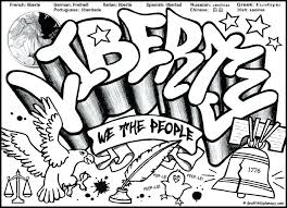 Color Word Coloring Pages Printable Free Graffiti Coloring Page