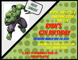 Birthday Invitation Flyer Template Awesome Hulk Invitation Template PosterMyWall