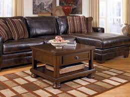 amazing decorating living room chocolate brown furniture brown leather sectional sofa brown varnished wood coffee table