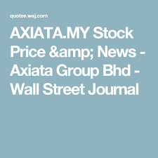 Historic Stock Quotes Delectable AXIATAMY Stock Price News Axiata Group Bhd Wall Street