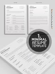 25 Best Minimalism Resume Templates 2018 Design Graphic Design