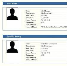 Employee Profile Sample Employee Profile Template Word Skincense Co