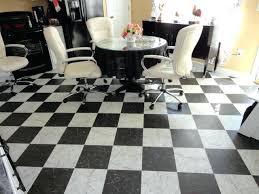 black and white vinyl flooring tile kitchen floor by checd uk