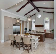 Kitchen With Vaulted Ceilings Classic Modern Minimalist Vaulted Ceiling Kitchen Lighting With