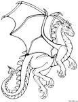 Скачать драконов для раскраски