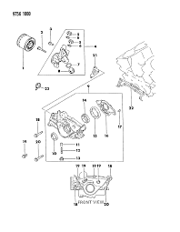 oil pump oil filter for dodge raider mopar parts giant 1989 dodge raider oil pump oil filter diagram 000017bx