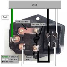 wire up a fused ac male power socket 4 steps pictures picture of understand the diagrams