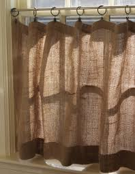 diy burlap cafe curtains w clip rings love this look could i