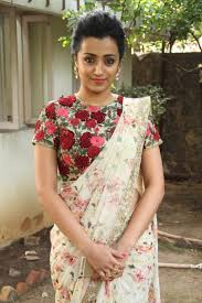Floral Print Blouse Designs For Sarees Trisha Latest Photos Saree Blouse Designs Silk Saree