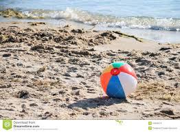 beach ball on beach. Beach Ball On A