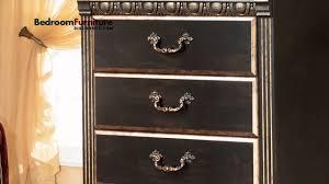 Ashley Coal Creek 4-Piece Mansion Bedroom Set in Dark Brown - YouTube