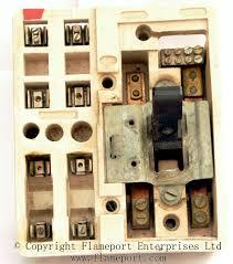 mem 4 way enclosed grey metal fuse box 2 ceramic inner from a mem fusebox