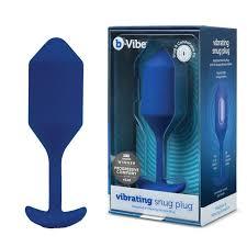 <b>Пробка для ношения с</b> вибрацией синяя B-Vibe Vibrating Snug ...