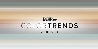 color trends 2021 palettes and paint