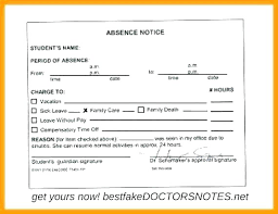 Dr Excuse Note Template Bookmylook Co
