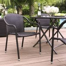 outdoor stack chairs. Palm Harbor Outdoor Wicker Stackable Chairs - Set Of 4 Stack O