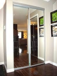 closet sliding doors with mirror door ikea glass menards