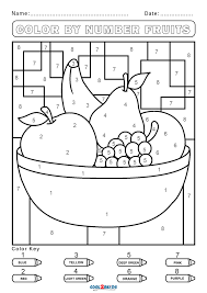 Fish coloring by numbers worksheet. Free Color By Number Worksheets Cool2bkids