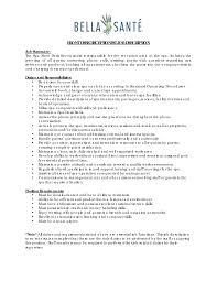 receptionist job resume receptionist job description on resume  receptionist job description on resume template template