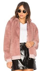 fluffy faux fur hooded jacket