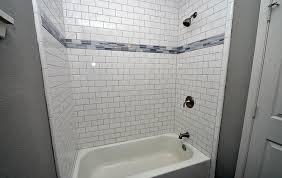 bathrooms with white subway tile large beveled subway tile shower