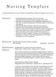 Nursin Resume Nursing Resume Sample Www Sfeditorwatch Com
