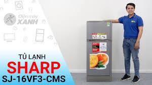 Tủ lạnh Sharp SJ-16VF3-CMS: Nhỏ gọn cho gia đình bạn • Điện máy XANH -  YouTube
