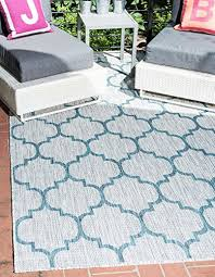 unique loom outdoor collection casual moroccan lattice geometric gray area rug 4 x 6
