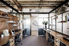 modern industrial office design. collaborative workspace neuehouse hollywood office design private desk modern industrial r