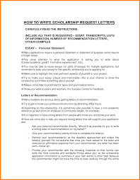 Letter Of Request For Scholarship Good Cv Examples SP ZOZ   ukowo