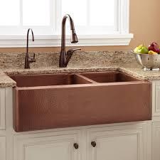 exellent sink 36 tegan 70 30 offset double bowl copper farmhouse sink kitchen pertaining to farm sinks design 12 with