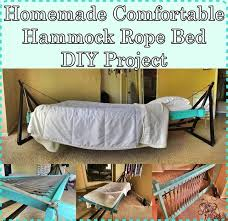 Homemade Comfortable Hammock Rope Bed DIY Project