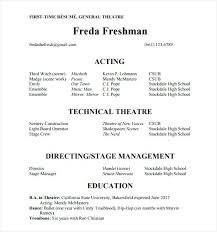 Acting Resume Template Gorgeous Resume Template For Actors Acting Resume Template No Experience