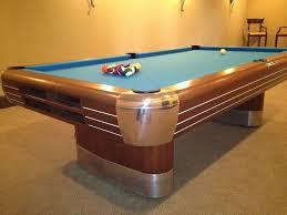 mid century modern pool table. Interesting Pool VintageAntique Brunswick Billiards Mid Century Modern 9u0027 Anniversary Pool  Table On F