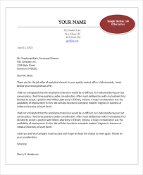 Acceptance Letter For Job Enchanting 48 Sample Job Offer Letters Sample Templates