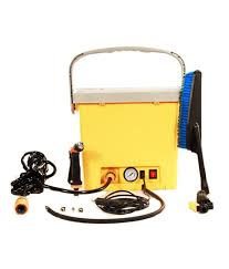 home pro high pressure portable car washer with built in air compressor yellow